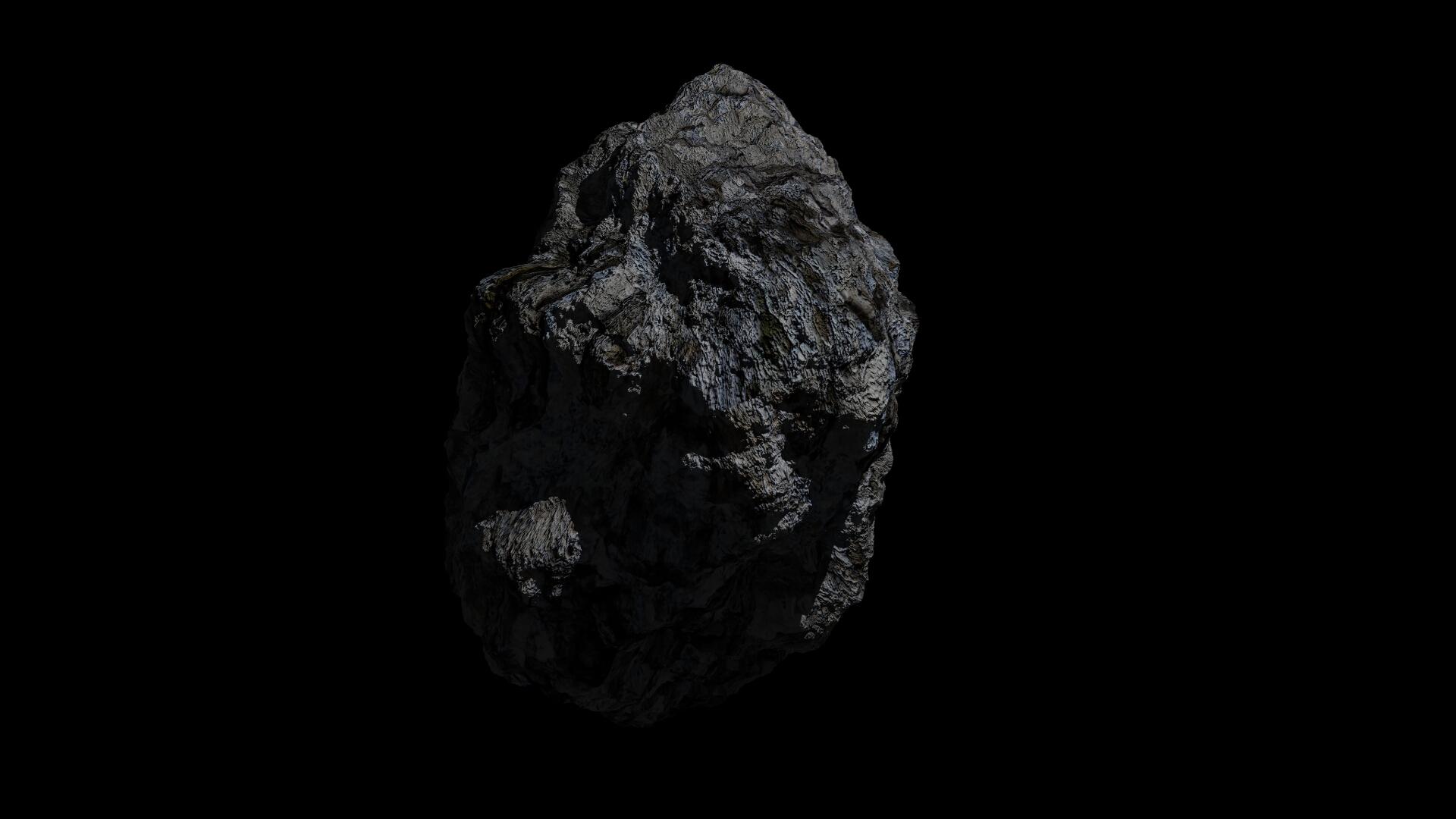 fantasy asteroid 3d model 3ds blend dae obj 266935