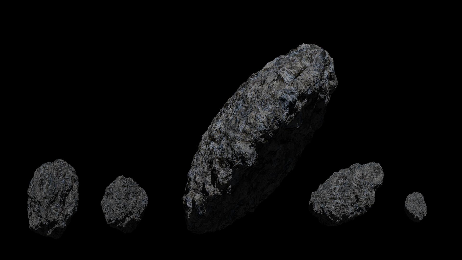 Fantasy Asteroid 3d model  266938