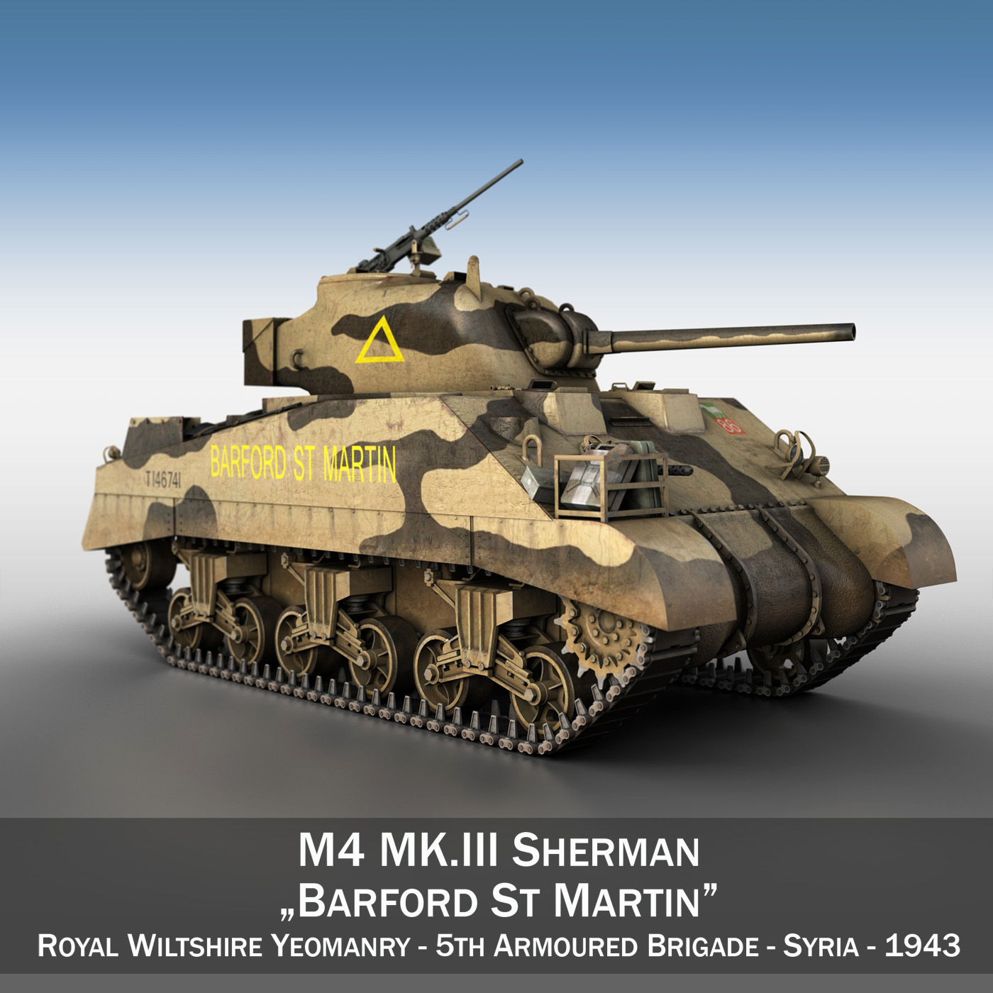 M4 Sherman MK.III - Barford St Martin 3d model  266951