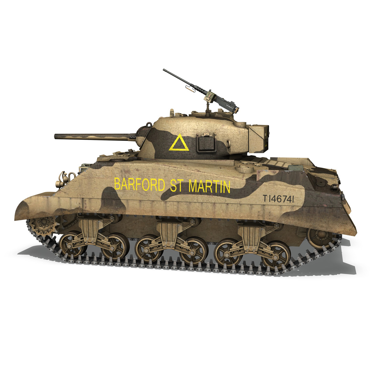 M4 Sherman MK.III - Barford St Martin 3d model  266953