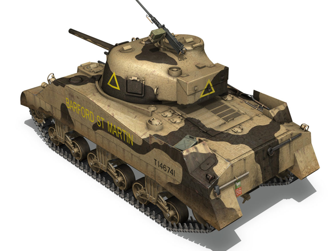 M4 Sherman MK.III - Barford St Martin 3d model