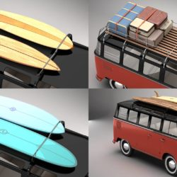 Volkswagen T1 Samba 1959 Accessories 3d model 0