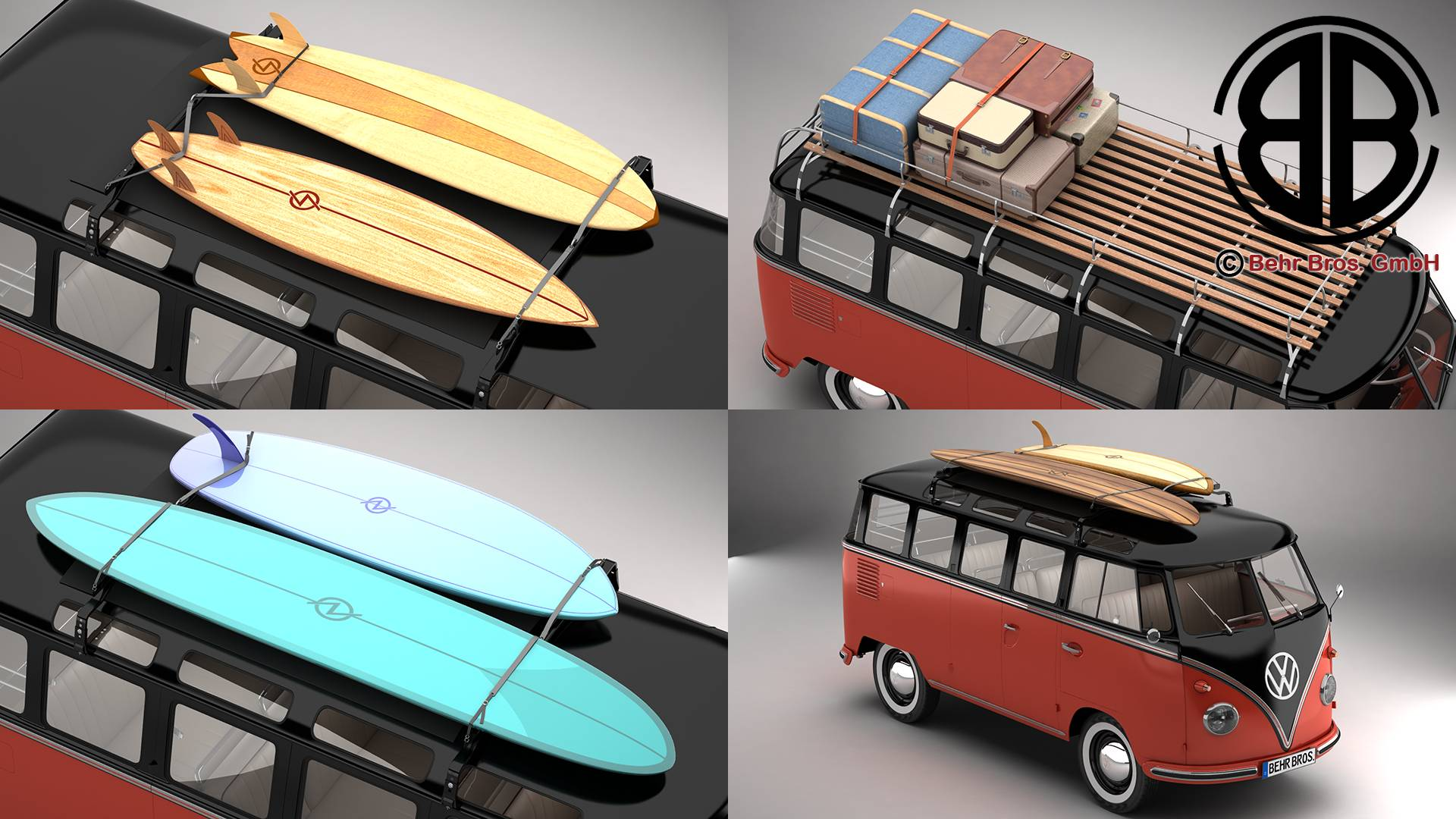 volkswagen t1 samba 1959 accessories 3d model 3ds max fbx c4d lwo ma mb obj 266972