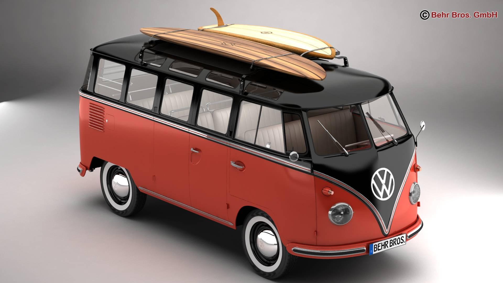 Volkswagen T1 Samba 1959 Accessories 3d model 3ds max fbx c4d lwo ma mb obj 266975