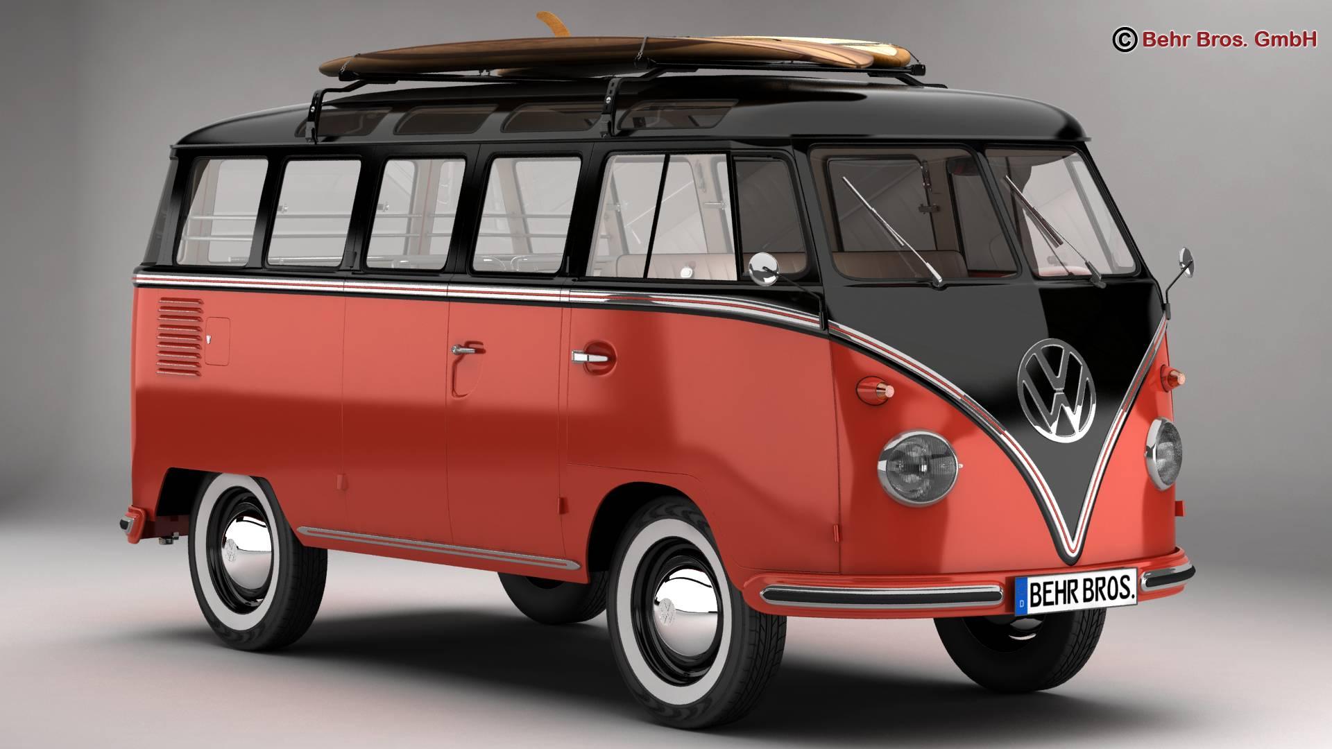 Volkswagen T1 Samba 1959 Accessories 3d model 3ds max fbx c4d lwo ma mb obj 266976