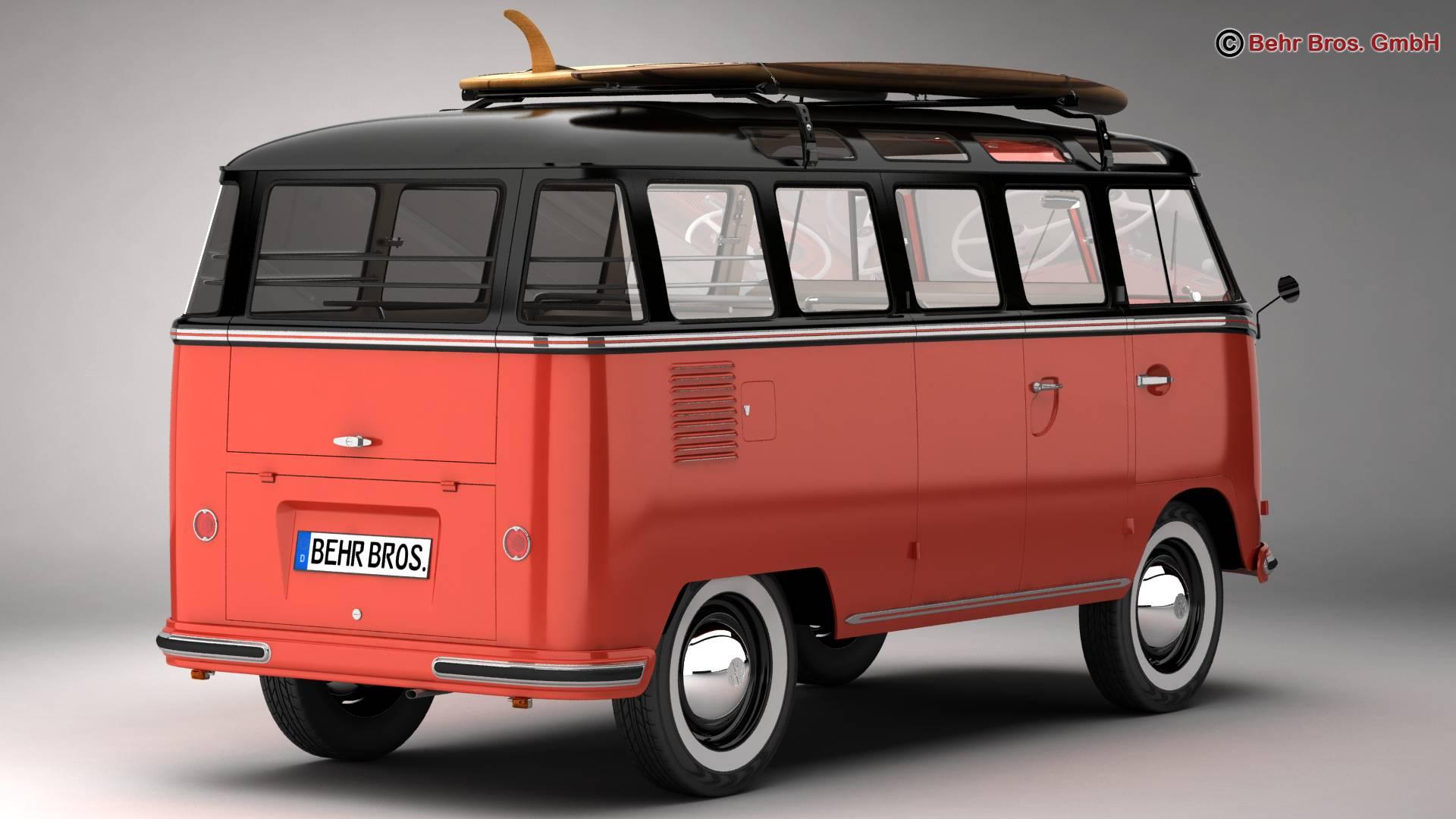 Volkswagen T1 Samba 1959 Accessories 3d model 3ds max fbx c4d lwo ma mb obj 266978