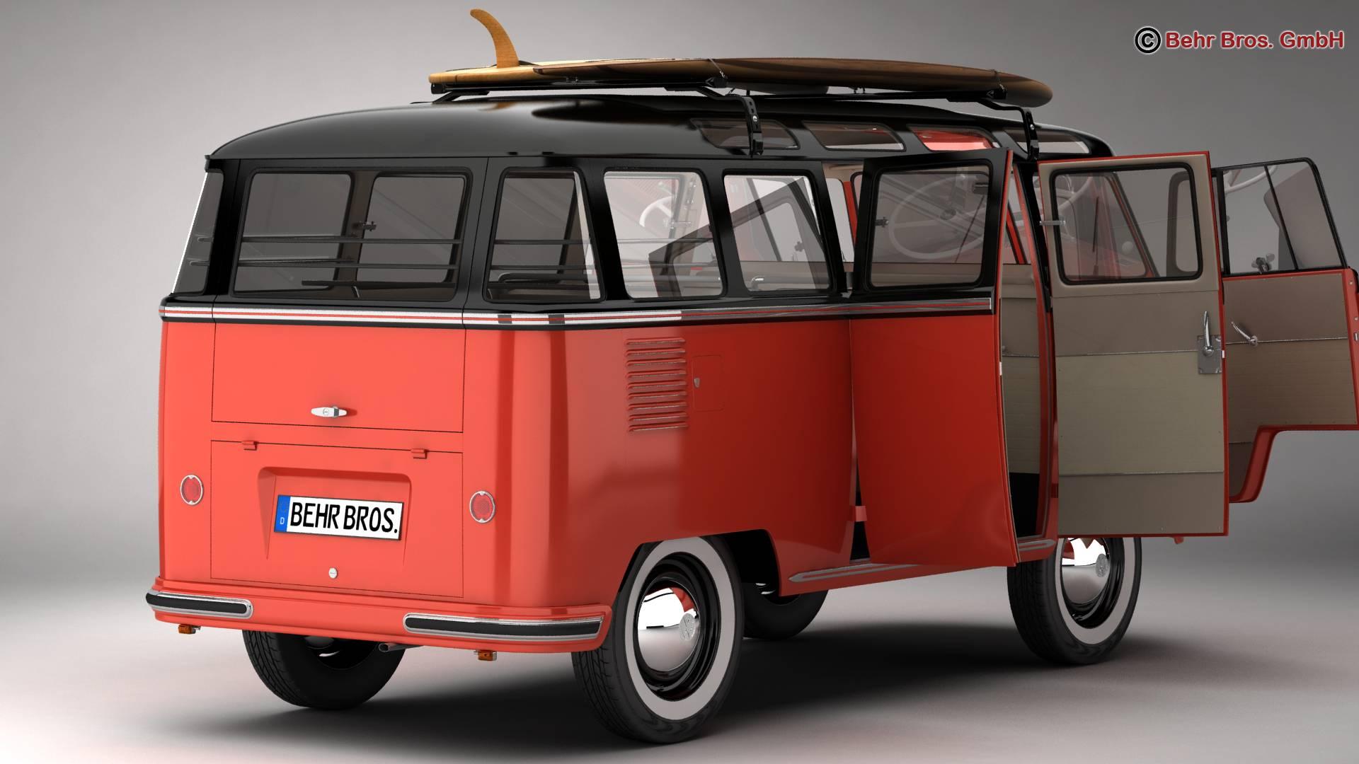 Volkswagen T1 Samba 1959 Accessories 3d model 3ds max fbx c4d lwo ma mb obj 266979