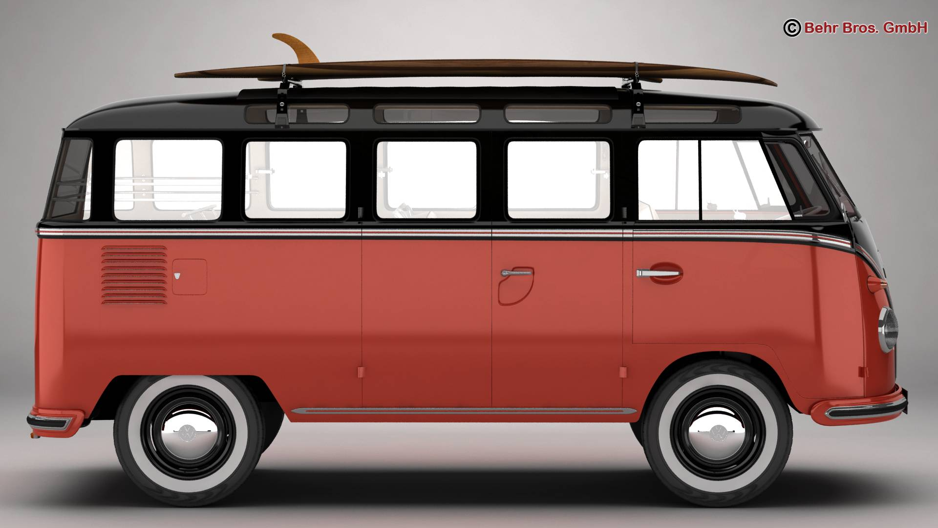 volkswagen t1 samba 1959 accessories 3d model buy. Black Bedroom Furniture Sets. Home Design Ideas