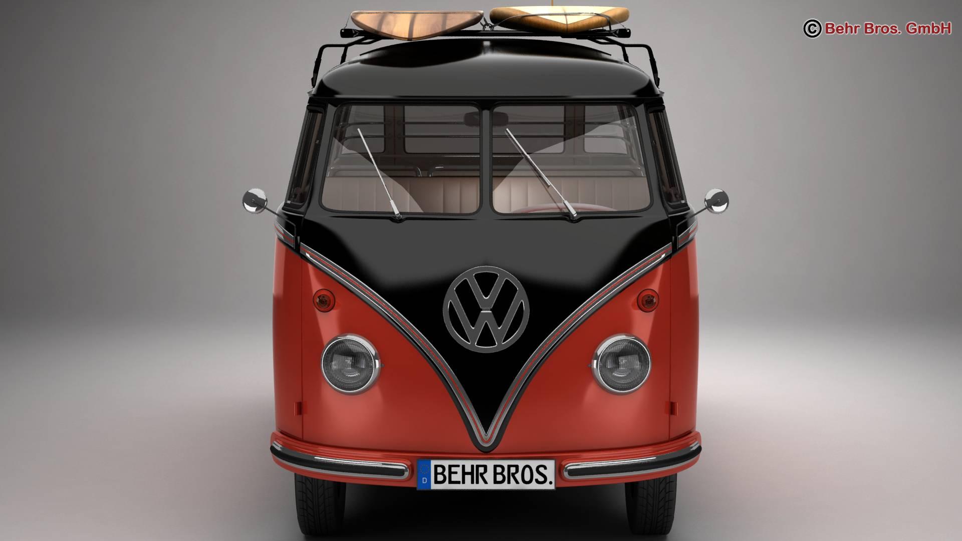 Volkswagen T1 Samba 1959 Accessories 3d model 3ds max fbx c4d lwo ma mb obj 266981