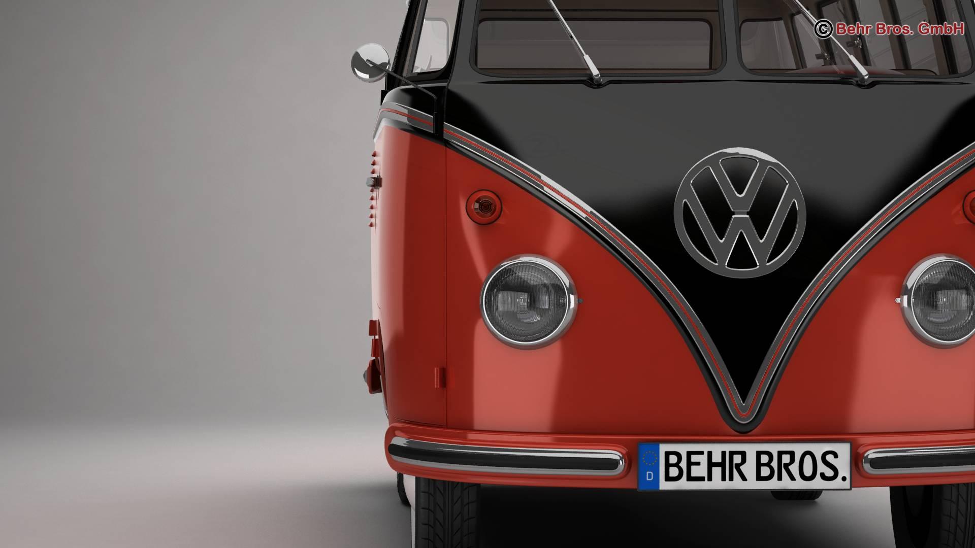 Volkswagen T1 Samba 1959 Accessories 3d model 3ds max fbx c4d lwo ma mb obj 266982