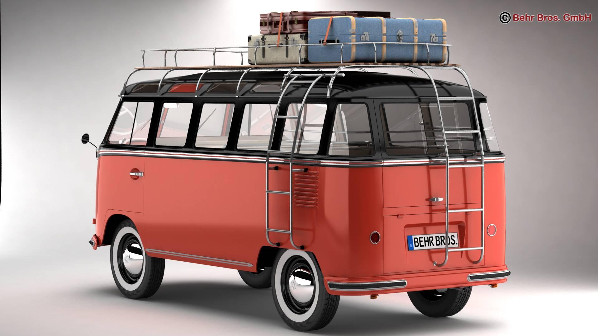 Volkswagen T1 Samba 1959 Accessories 3d model 3ds max fbx c4d lwo ma mb obj 266995
