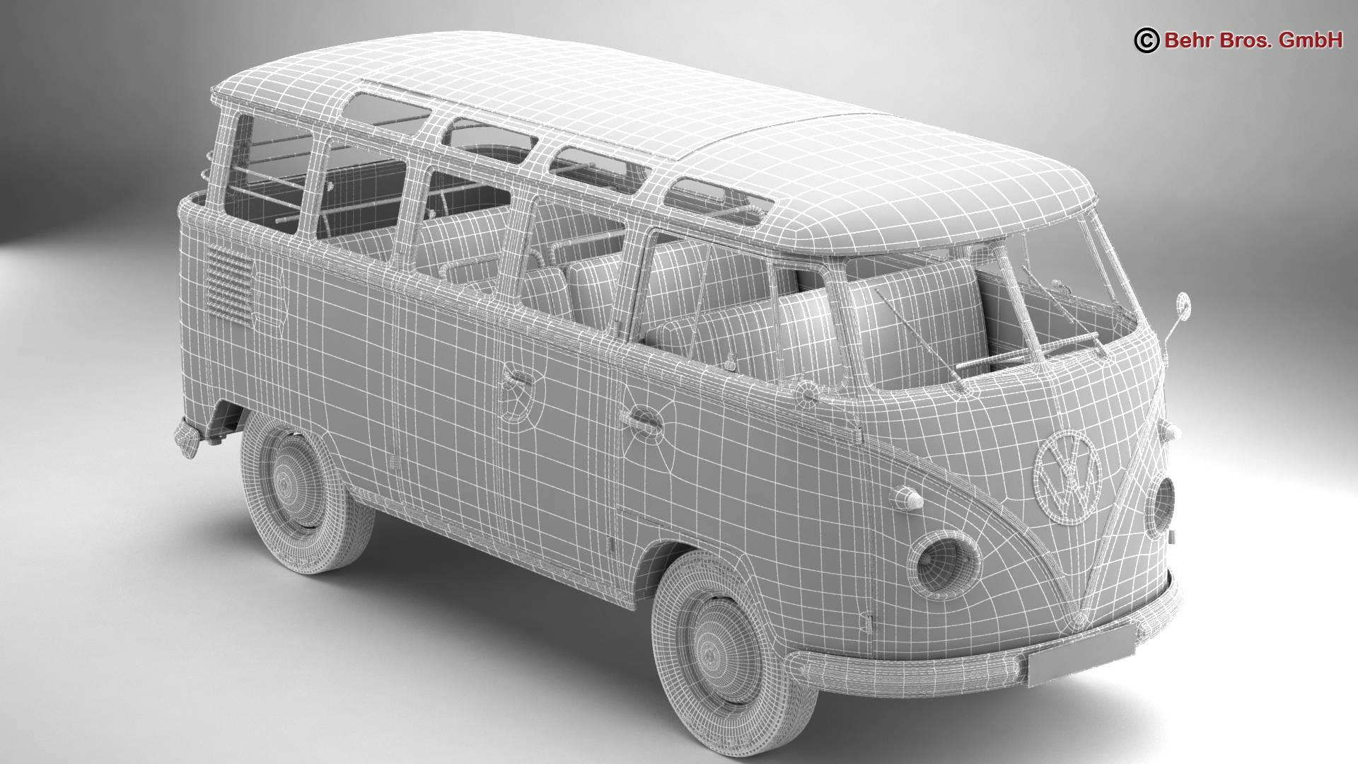 Volkswagen T1 Samba 1959 Accessories 3d model 3ds max fbx c4d lwo ma mb obj 267000