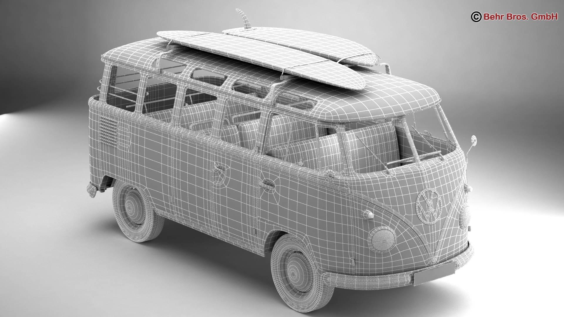 Volkswagen T1 Samba 1959 Accessories 3d model 3ds max fbx c4d lwo ma mb obj 267001