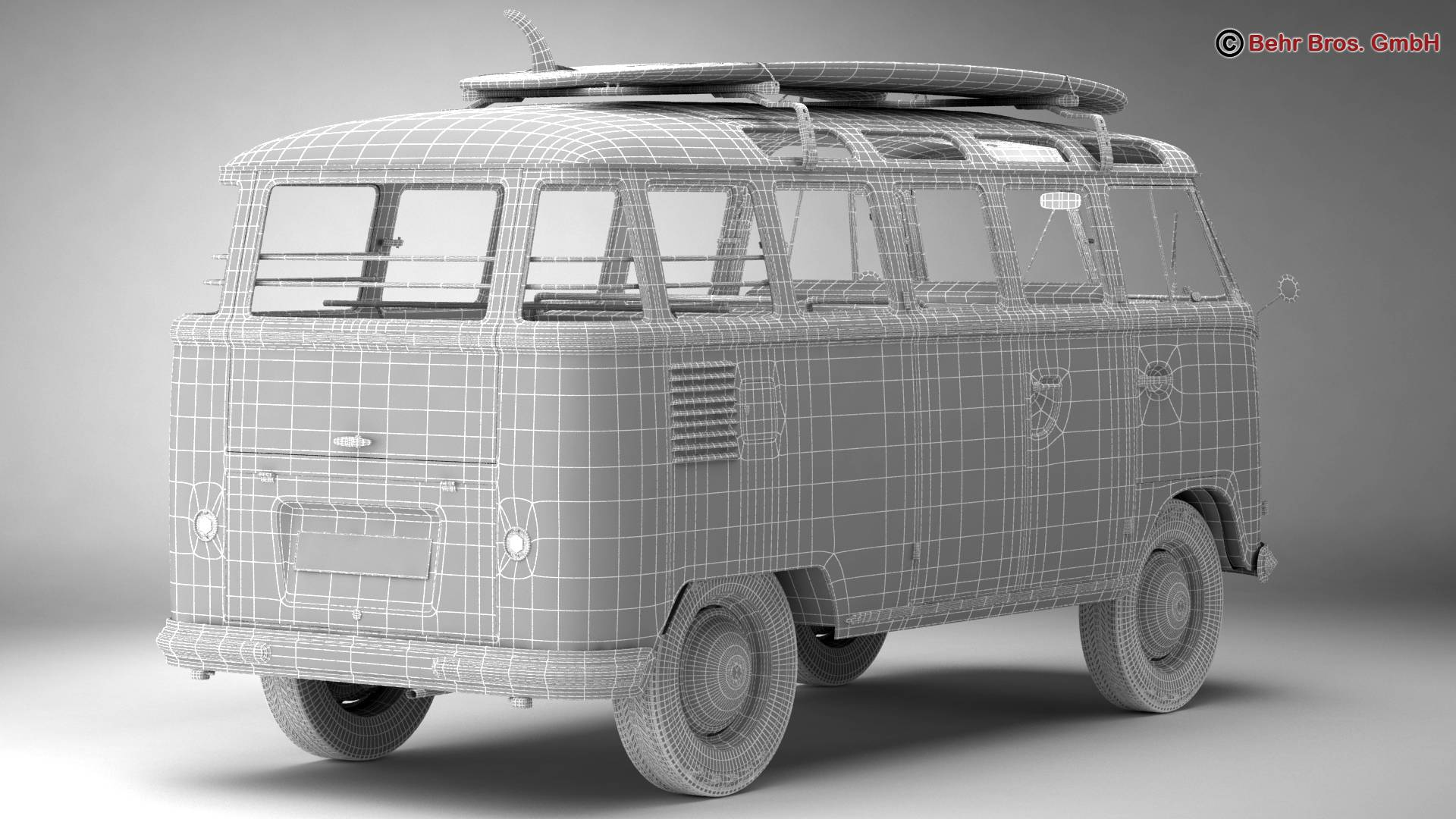 Volkswagen T1 Samba 1959 Accessories 3d model 3ds max fbx c4d lwo ma mb obj 267004