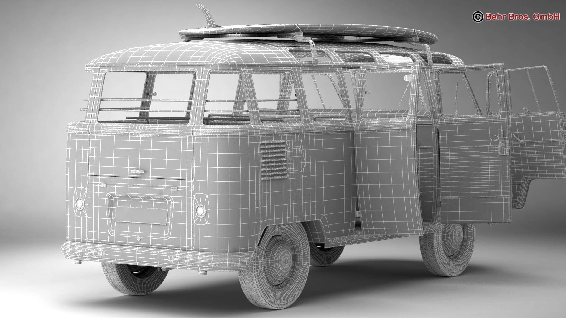 Volkswagen T1 Samba 1959 Accessories 3d model 3ds max fbx c4d lwo ma mb obj 267005