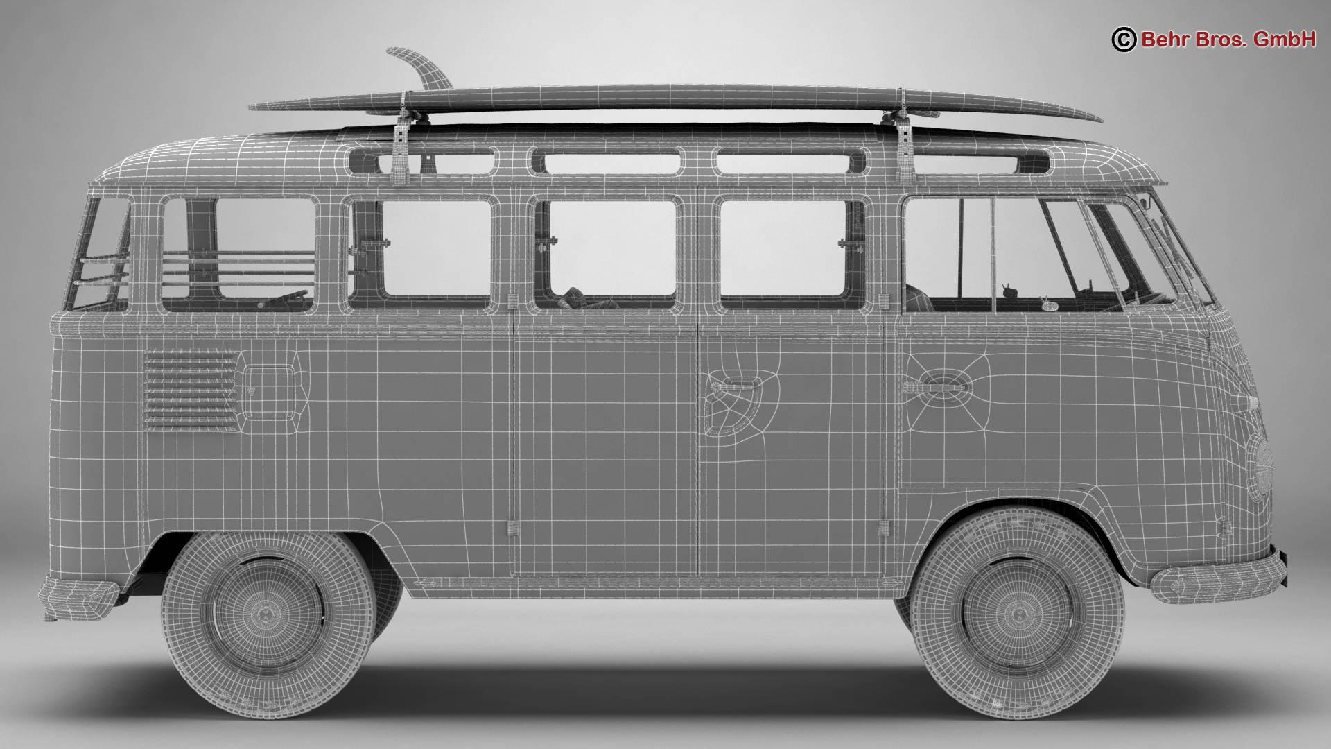 Volkswagen T1 Samba 1959 Accessories 3d model 3ds max fbx c4d lwo ma mb obj 267006
