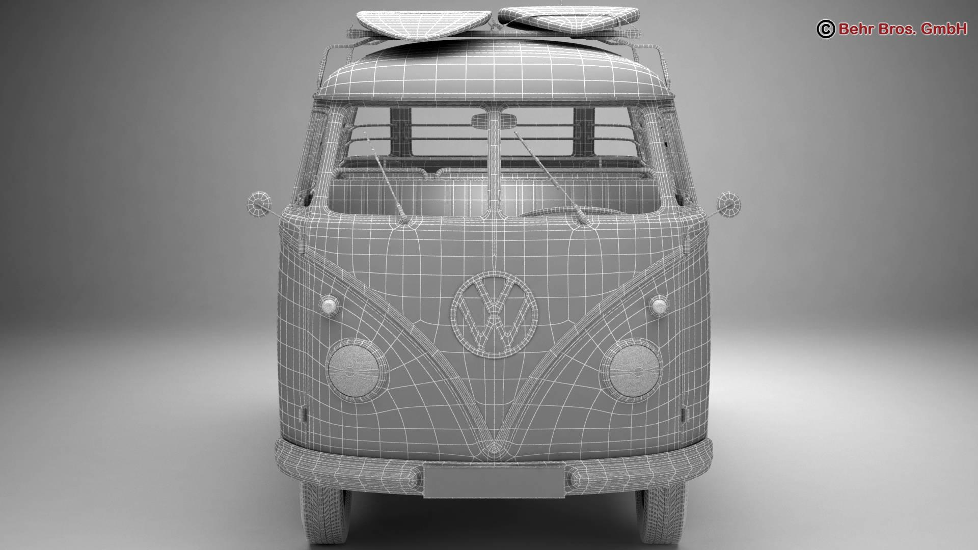 Volkswagen T1 Samba 1959 Accessories 3d model 3ds max fbx c4d lwo ma mb obj 267007