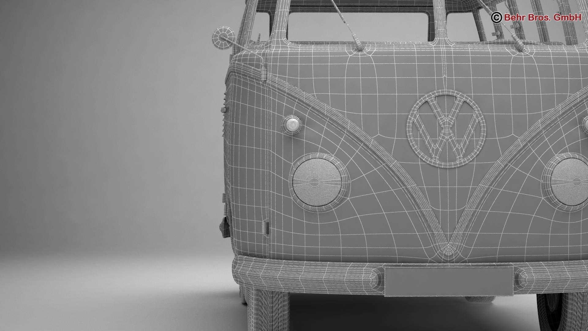 Volkswagen T1 Samba 1959 Accessories 3d model 3ds max fbx c4d lwo ma mb obj 267008
