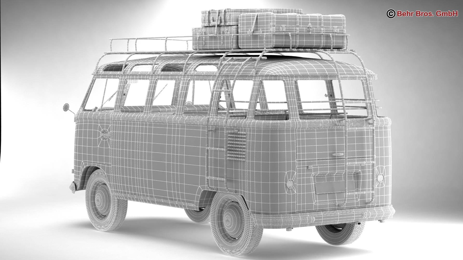 Volkswagen T1 Samba 1959 Accessories 3d model 3ds max fbx c4d lwo ma mb obj 267019