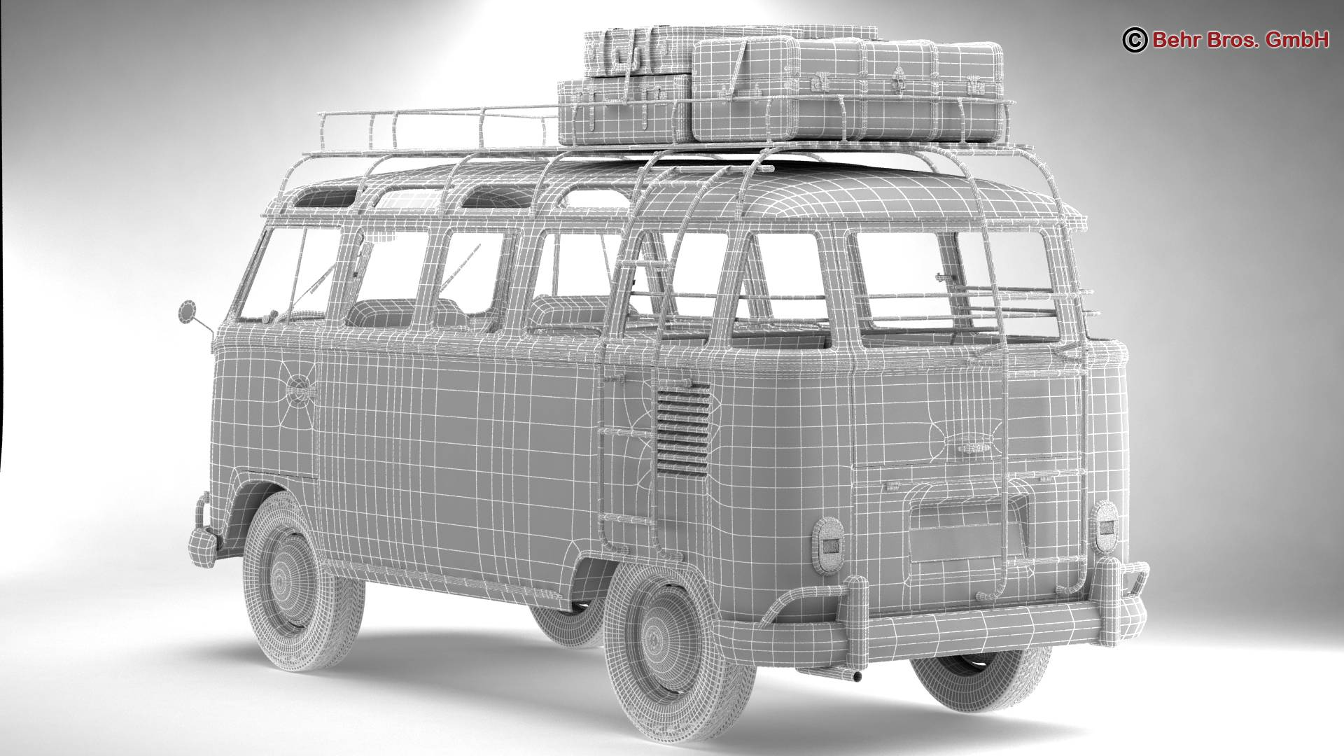 Volkswagen T1 Samba 1963 Hippie Accessories 3d model 3ds max fbx c4d lwo ma mb obj 267082