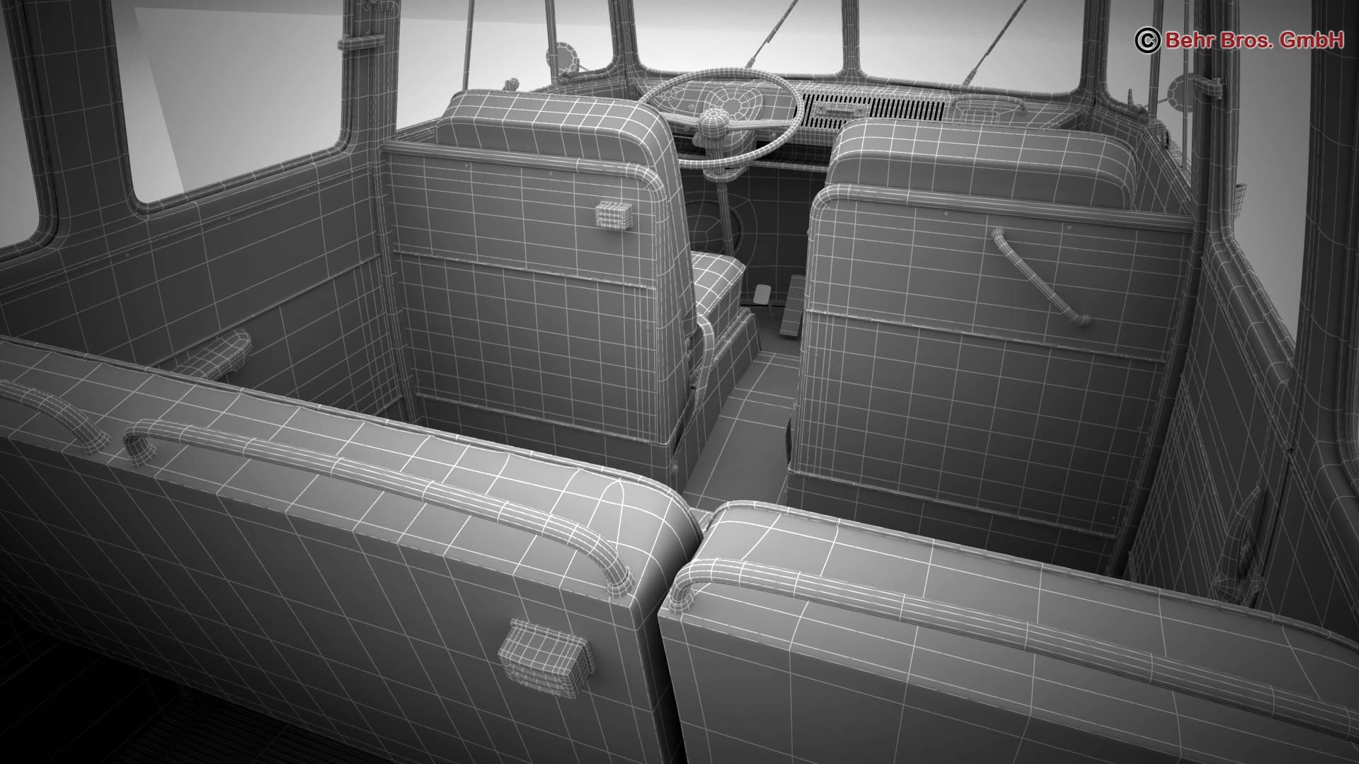 volkswagen t1 samba 1963 hippie accessories 3d model 3ds max fbx c4d lwo ma mb obj 267086