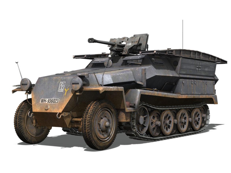 SD.KFZ.251/7 - Assault Engineer Vehicle - 7PD 3d model