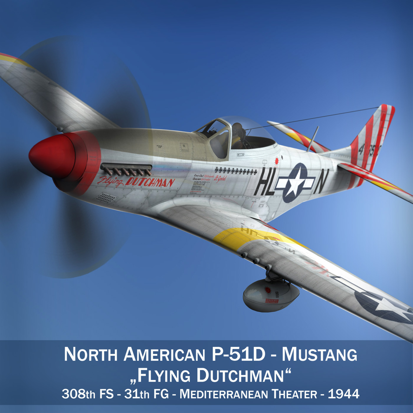 north american p-51d – flying dutchman 3d model fbx lwo lw lws obj c4d 267115