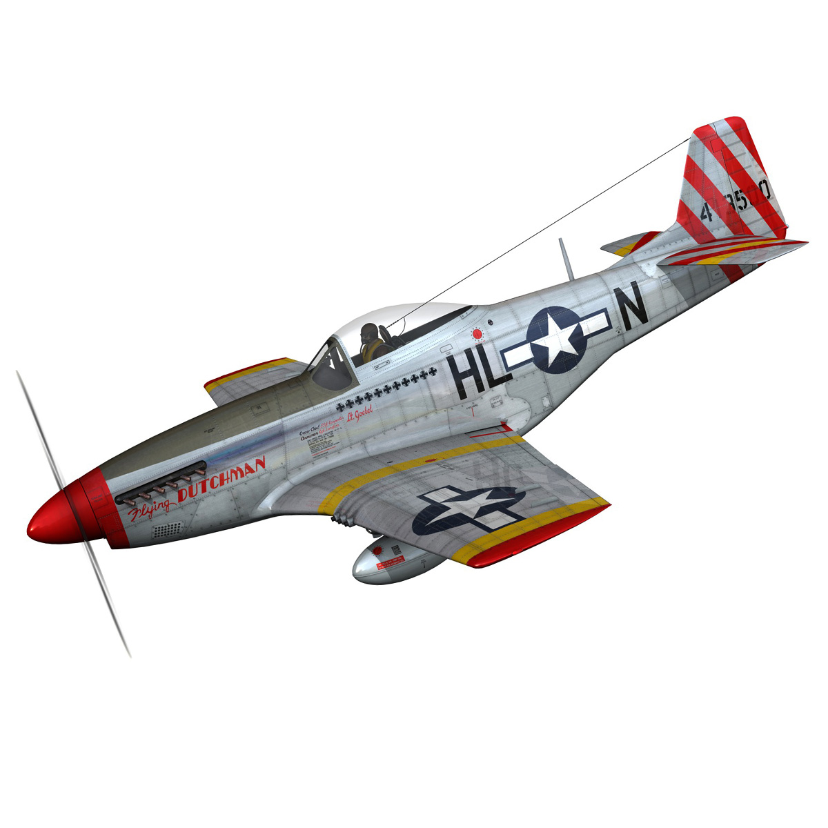 north american p-51d – flying dutchman 3d model fbx lwo lw lws obj c4d 267116