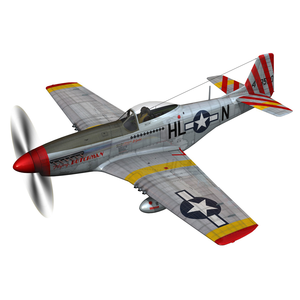 north american p-51d – flying dutchman 3d model fbx lwo lw lws obj c4d 267117