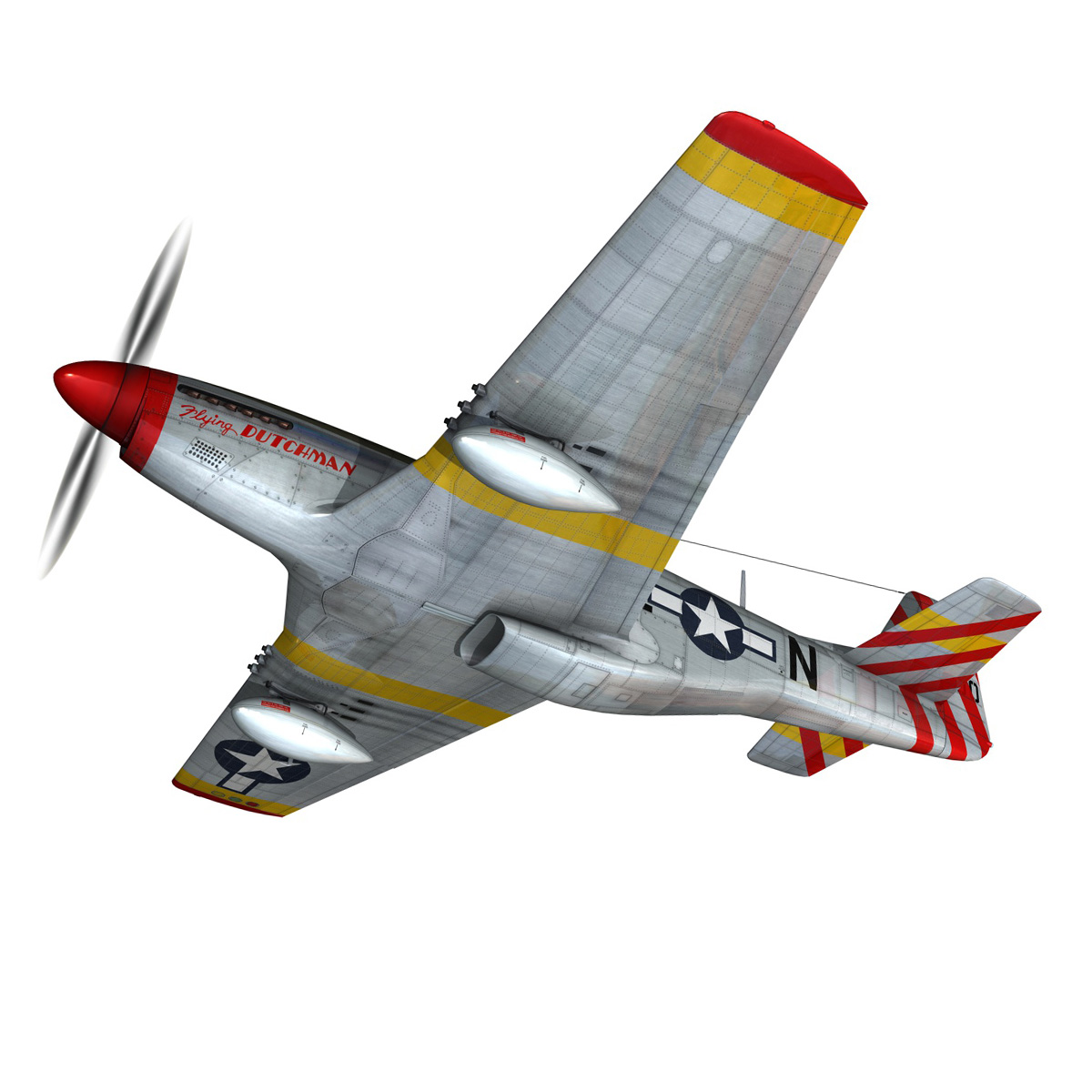 north american p-51d – flying dutchman 3d model fbx lwo lw lws obj c4d 267118