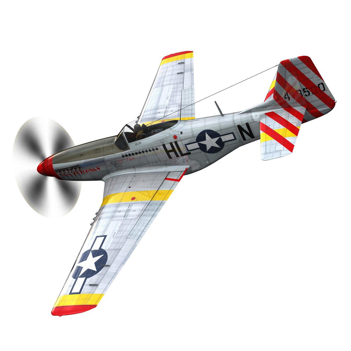 north american p-51d – flying dutchman 3d model fbx lwo lw lws obj c4d 267119