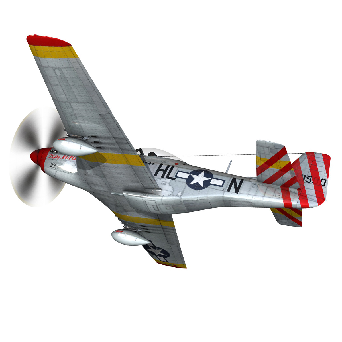 north american p-51d – flying dutchman 3d model fbx lwo lw lws obj c4d 267120