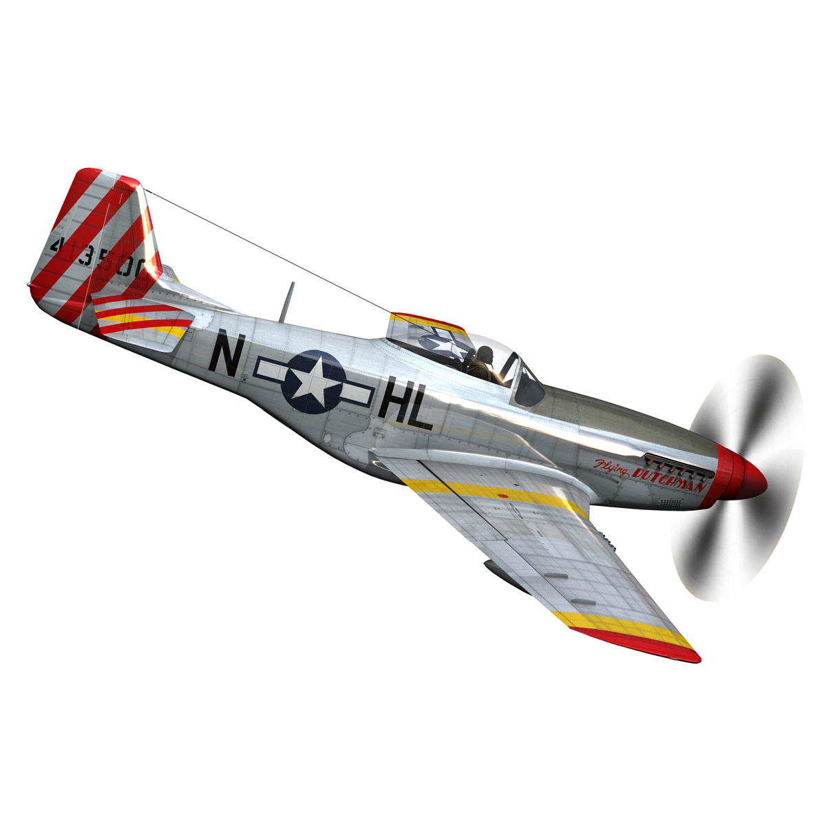 north american p-51d – flying dutchman 3d model fbx lwo lw lws obj c4d 267121