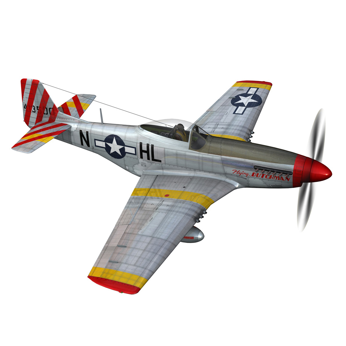 north american p-51d – flying dutchman 3d model fbx lwo lw lws obj c4d 267122