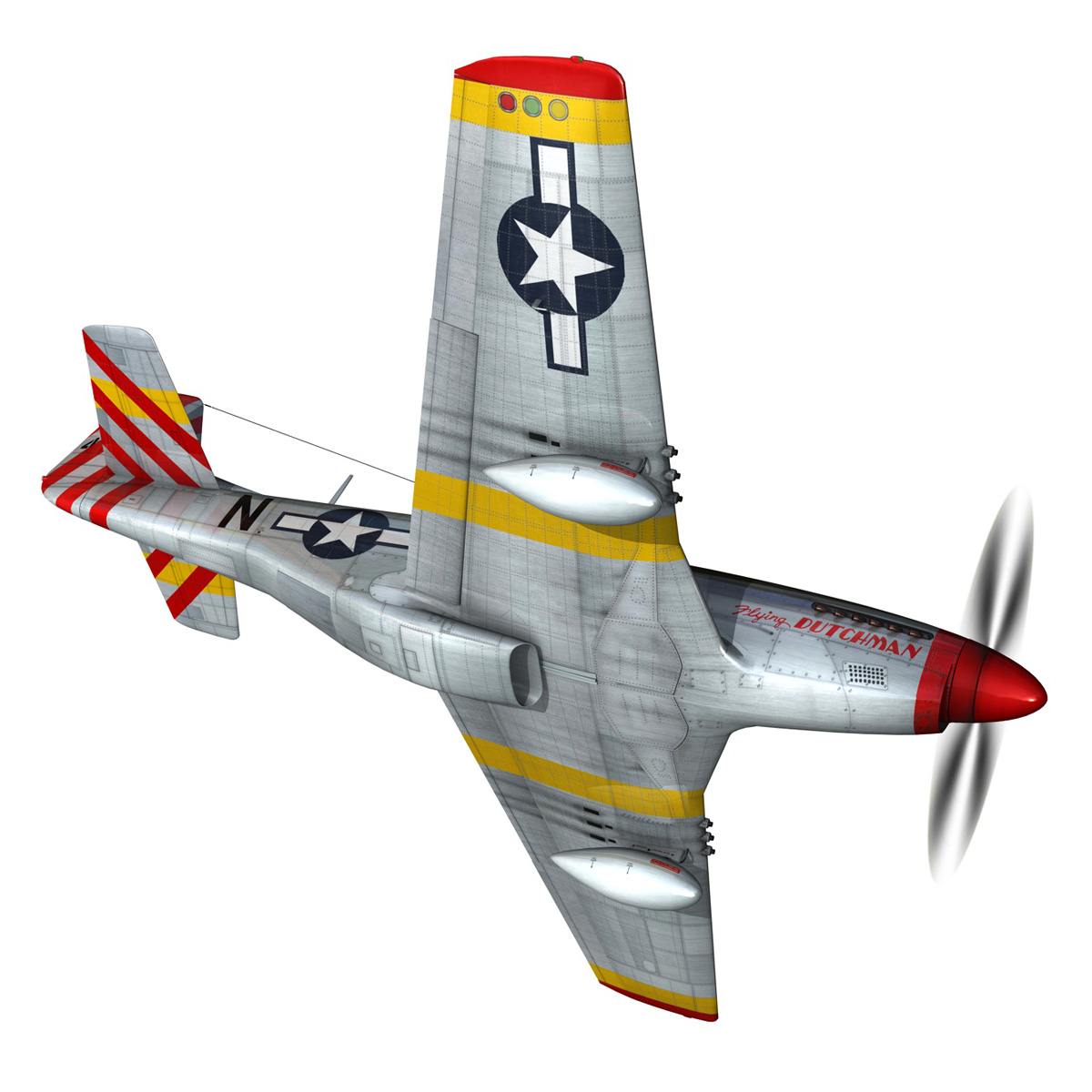 north american p-51d – flying dutchman 3d model fbx lwo lw lws obj c4d 267123