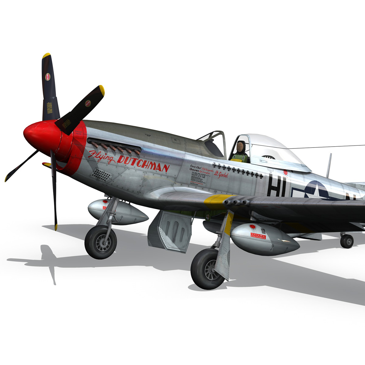 north american p-51d – flying dutchman 3d model fbx lwo lw lws obj c4d 267124
