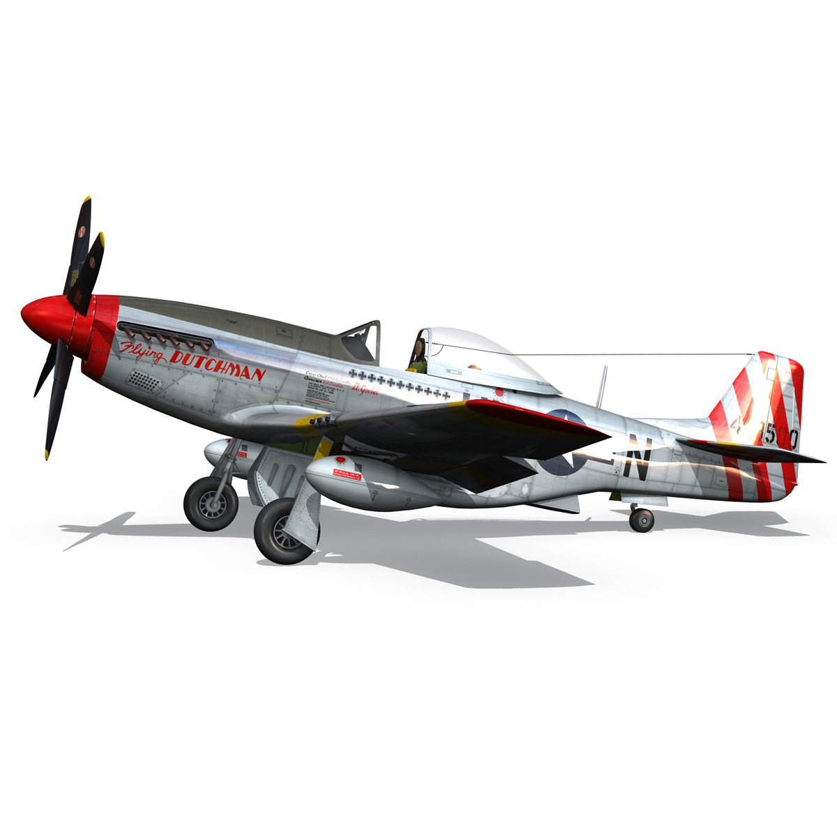 north american p-51d – flying dutchman 3d model fbx lwo lw lws obj c4d 267125