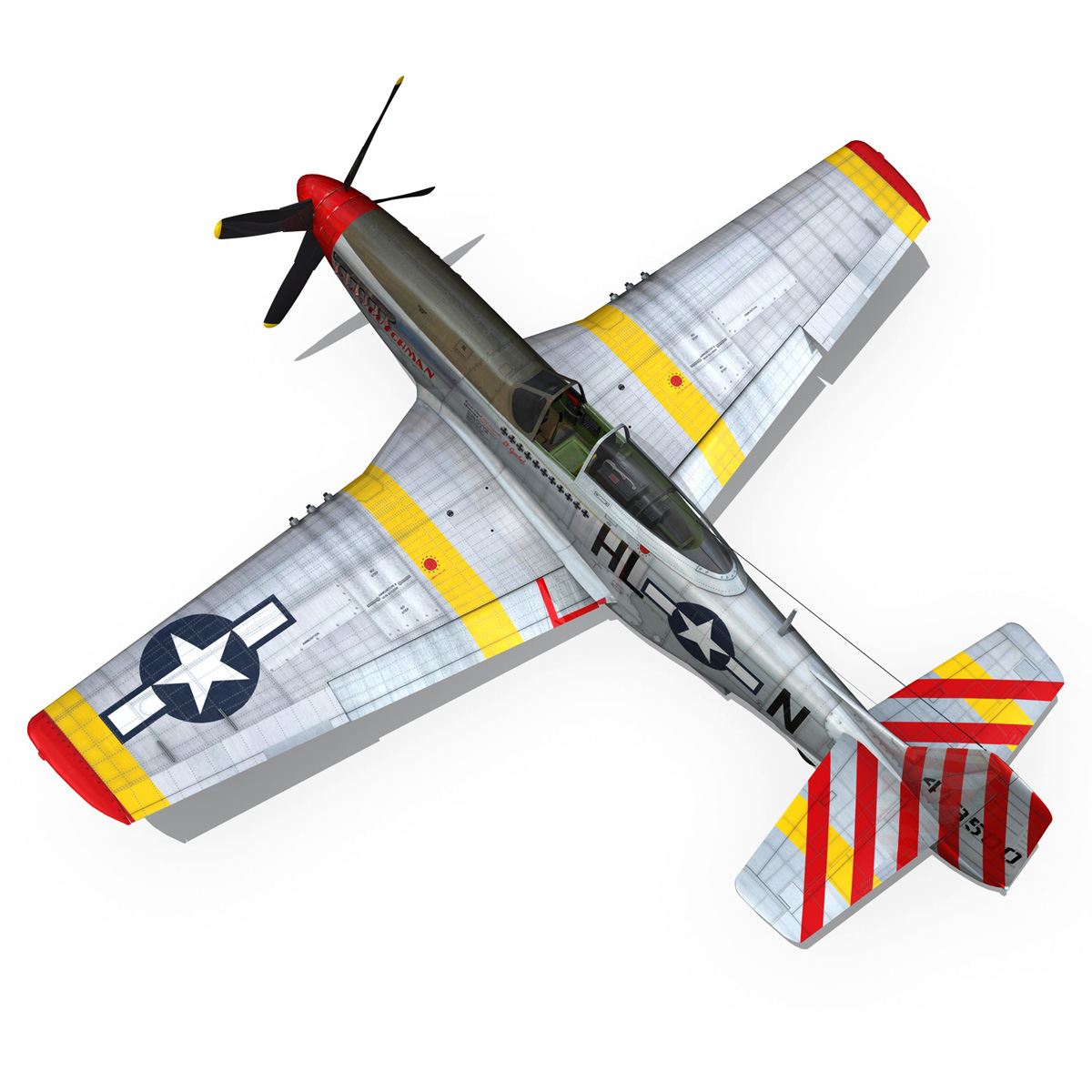 north american p-51d – flying dutchman 3d model fbx lwo lw lws obj c4d 267126
