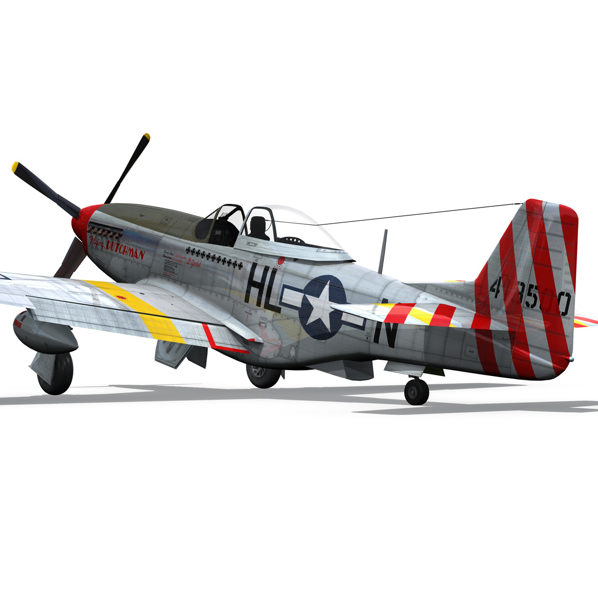 north american p-51d – flying dutchman 3d model fbx lwo lw lws obj c4d 267127