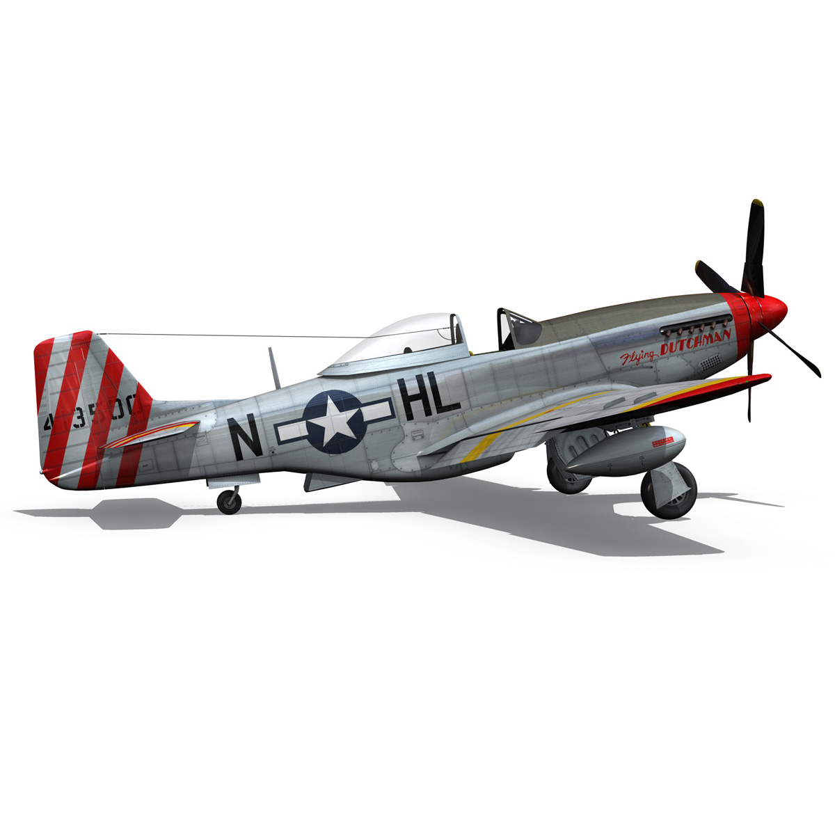 north american p-51d – flying dutchman 3d model fbx lwo lw lws obj c4d 267128