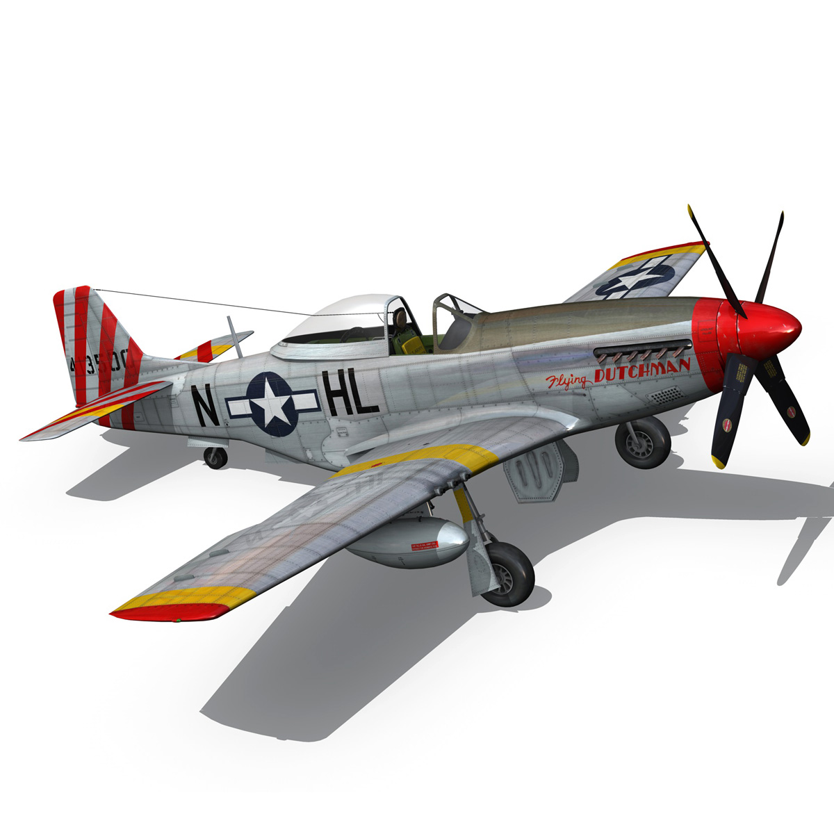 north american p-51d – flying dutchman 3d model fbx lwo lw lws obj c4d 267129
