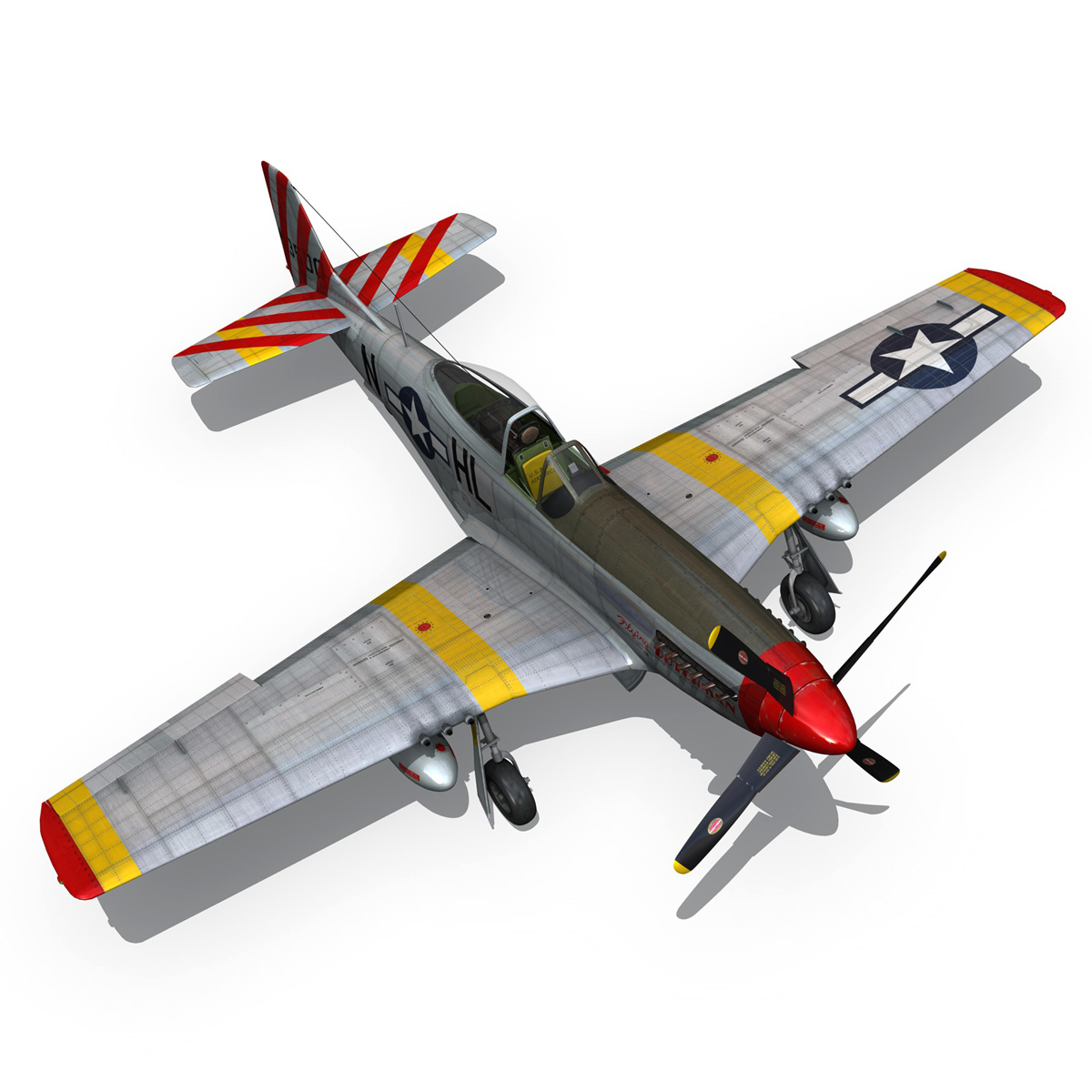 north american p-51d – flying dutchman 3d model fbx lwo lw lws obj c4d 267130