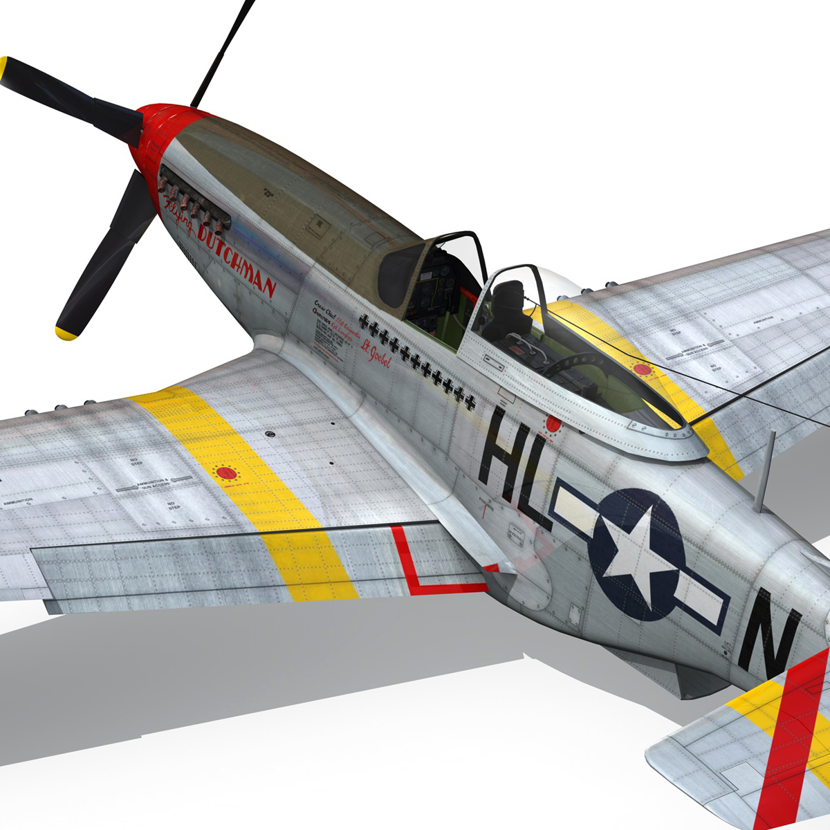 north american p-51d – flying dutchman 3d model fbx lwo lw lws obj c4d 267131