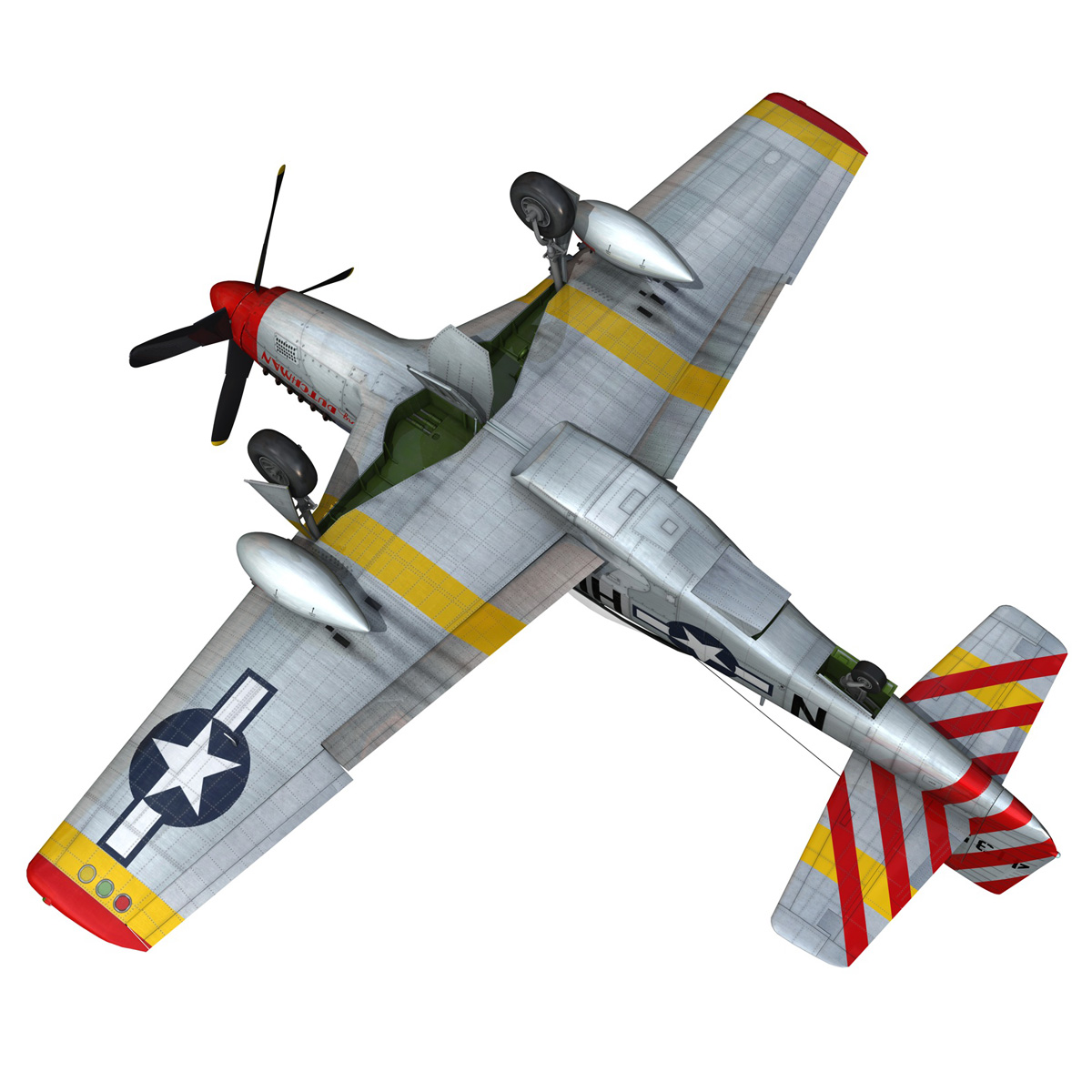 north american p-51d – flying dutchman 3d model fbx lwo lw lws obj c4d 267132