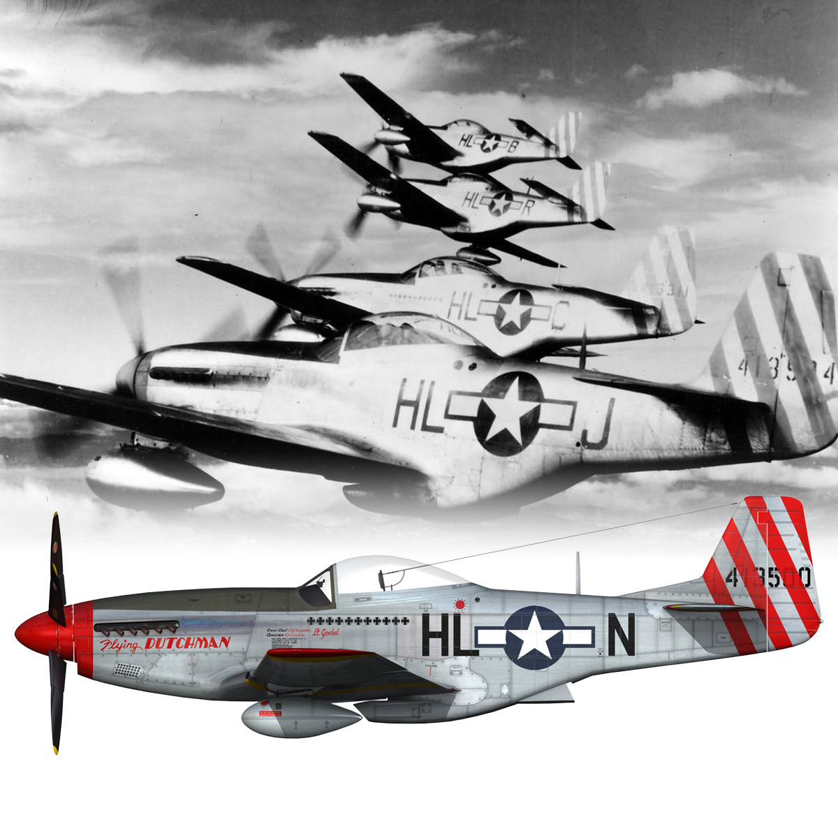 north american p-51d – flying dutchman 3d model fbx lwo lw lws obj c4d 267133