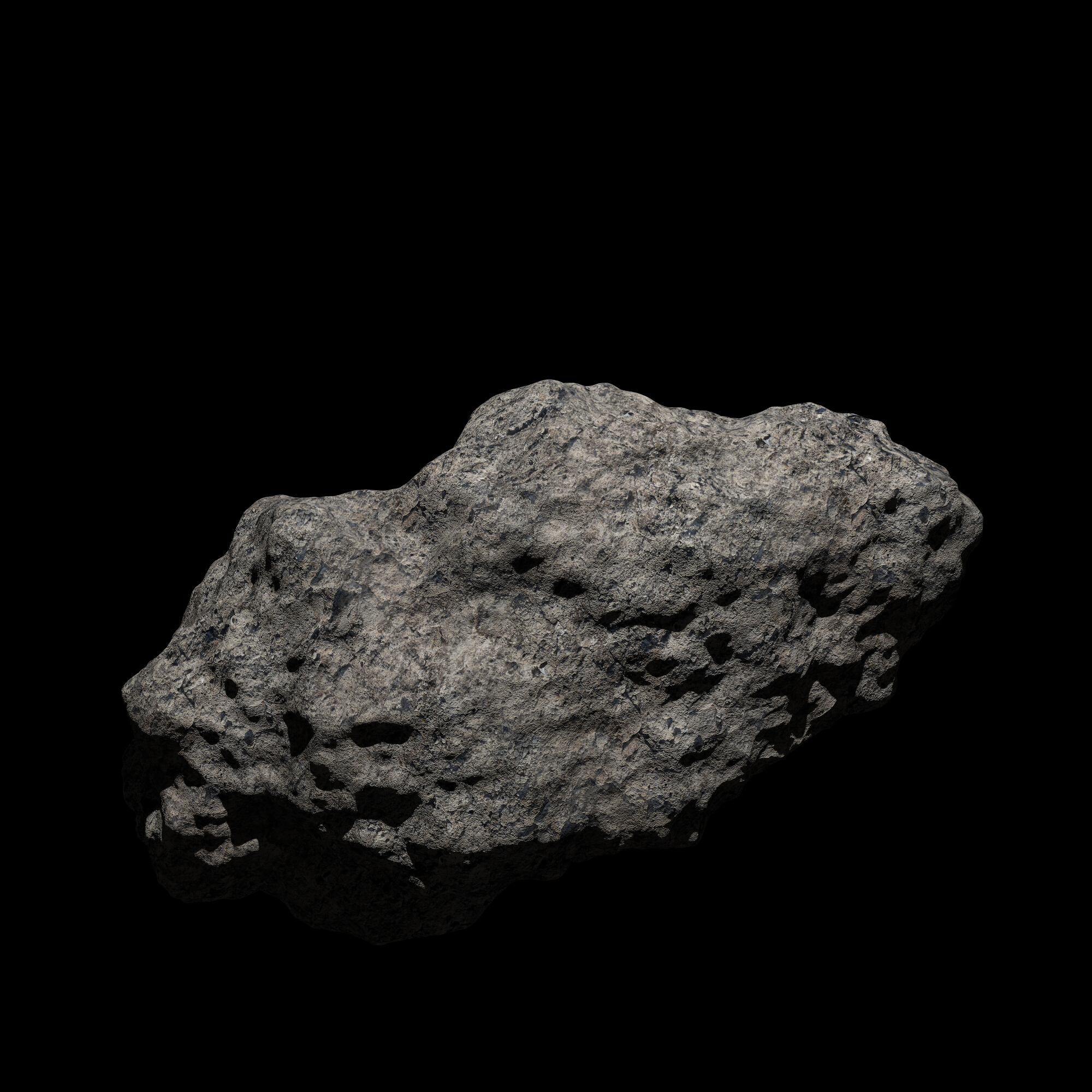 fantasy asteroid 2 3d model 3ds blend dae fbx obj 267190