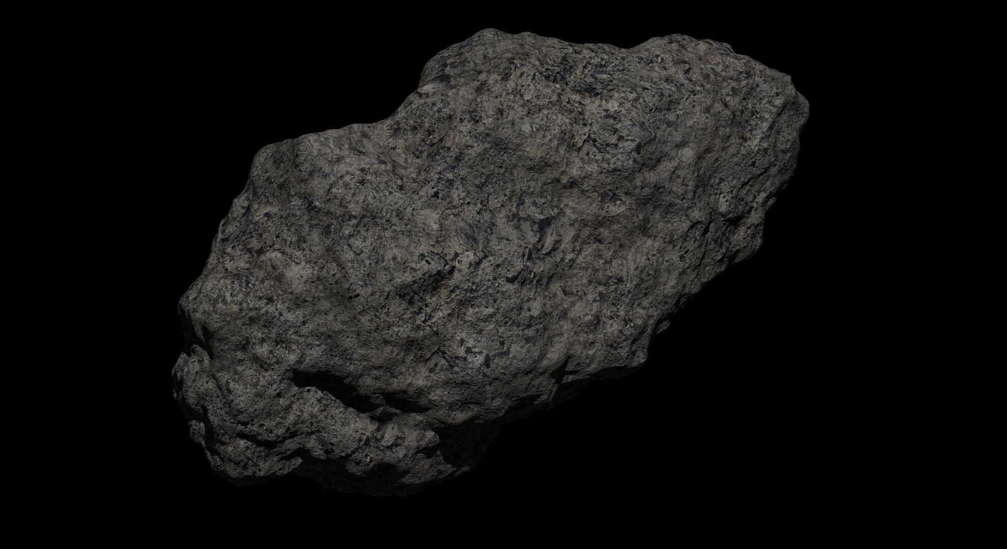 fantasy asteroid 2 3d model 3ds blend dae fbx obj 267191