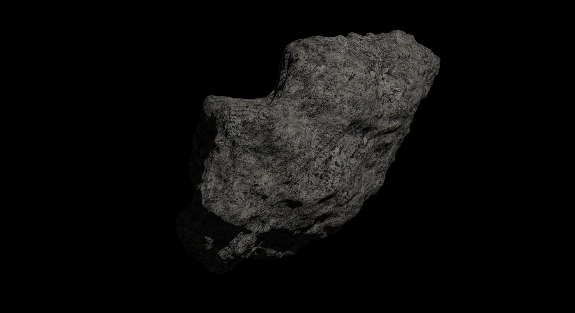 fantasy asteroid 2 3d model 3ds blend dae fbx obj 267192