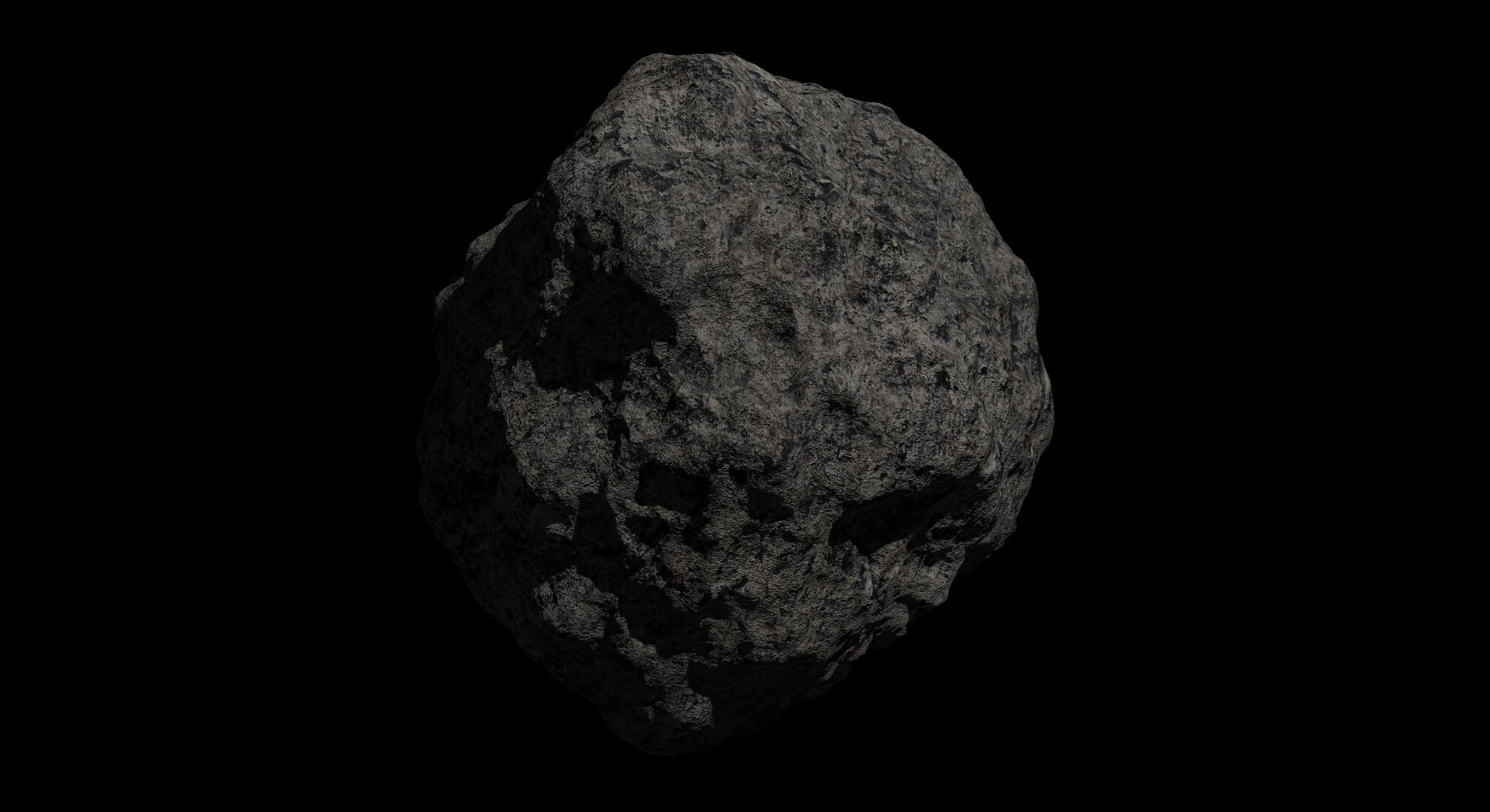 fantasy asteroid 2 3d model 3ds blend dae fbx obj 267193