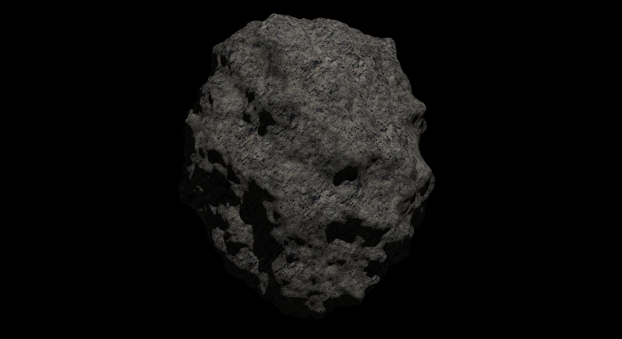 fantasy asteroid 2 3d model 3ds blend dae fbx obj 267194